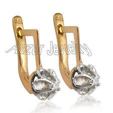 Russian Style Children's Diamond Earrings 14k Rose W/ Gold .20 ct G-SI-1 $389.00