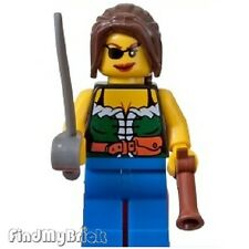 M119 Lego Shipwreck Hideout Pirates Female Minifigure with Sword & Gun 6253 NEW