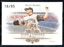 2007 Topps Allen & Ginter Rip Card 34 Scott Kazmir 18/95 Ripped