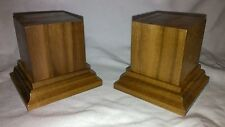 1.75x1.75x2.5 Hand Made Wooden base for figures/miniatures teak wood