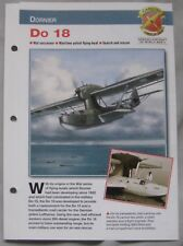 Aircraft of the World Card 32 , Group 12 - Dornier Do 18