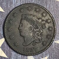 1827 Coronet Head Large Cent Copper Collector Coin FREE SHIPPING