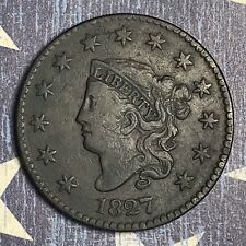 1827 Coronet Head Large Cent Copper Collector Coin for your Collection or Set.
