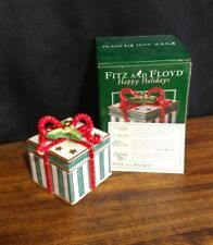 Fitz and Floyd 2004 Happy Holiday Small Lidded Ceramic Box