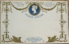 Perfume/Cologne/Savon Ed. Pinaud 1903 Advertising Postcard, 'Marie Louise' Paris