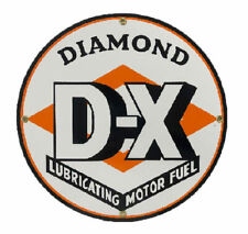 Diamond DX Gasoline Porcelain Advertising Sign