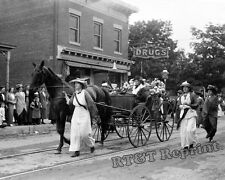Photograph Suffragette Rhoda J. Glover 1913 Parade in Long Island New York  8x10
