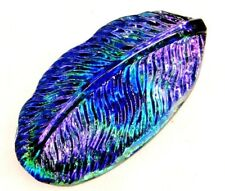 New listing Antique Vtg Button Realistic Peacock Feather Last One!
