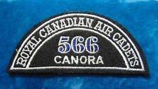 CANADA Royal Canadian Air Cadets CANORA 566 squadron shoulder flash badge patch