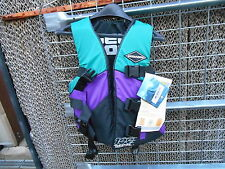 NOS BRP SeaDoo Adult Small/Medium Teal-Purple 3 Buckle Ski Vest P298640174