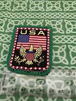 Vintage USA Golden Eagle Heraldic Crest Sew On Patch FREE SHIPPING
