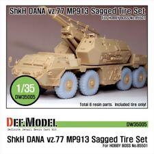 DEF Model 1:35 Sz77 DANA ShKH MP913 Sagged Tire set for Hobbyboss #DW35005