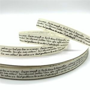 5yards Polyester Text Ribbon For Wedding Christmas Decoration DIY Sewing Fabric