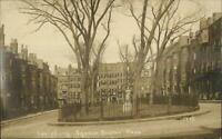 Boston MA Louisburg Square Buildings c1910 Real Photo Postcard