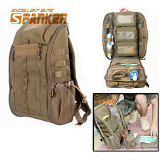 Tactical Combat Molle Backpack Emergency Medical First Aid Rucksack Bag Pack CB