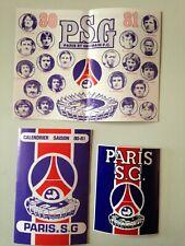 PARIS SG CALENDRIER SAISON 1980/81 + STICKER
