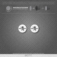 6077 - Peugeot Bicycle Handlebar Bar End Plug Stickers - Decals