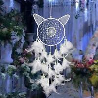Handmade White Dream Catcher Feather Wall Hanging Car Home Decor Ornament