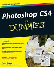 Photoshop CS4 For Dummies, Bauer, Peter, Good Condition, Book
