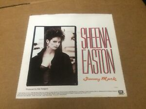 """SHEENA EASTON JIMMY MACK  PIC SLEEVE ONLY NO RECORD  7""""  C4"""