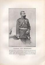 1918 WW1 WORLD WAR I PRINT ~ GENERAL VON BERNHARDI