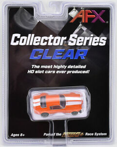 Tomy AFX Mega G+ Orange Chevy Camaro SS396 Clear Collector HO Scale Slot Car