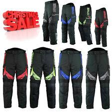 Mens Waterproof Motorbike Motorcycle Cordura Textile CE Armoured Trousers Pant