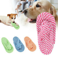 Pet Cotton Rope Knot Chews Toys Strong Pull Braided Shoes Shape Toy For Pet h8