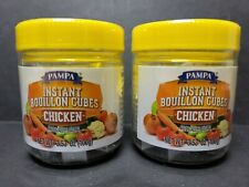 Pampa Instant Soup Cooking Bouillon Cubes Chicken Favored 2 Jar