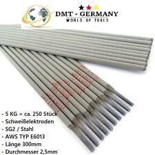 5KG=250 Schweißelektroden Stahl RR6 RR12 E6013 Stabelektrode Schweißen SG2 2,5mm