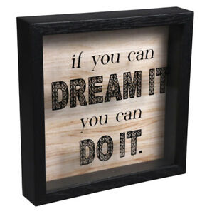 "Stocking Stuffer - "" If You Can Dream It You Can Do It "" Rustic Sentiment Box"