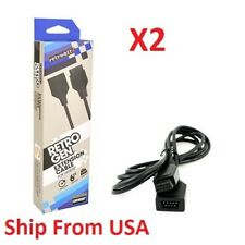 2X Genesis Extension 6ft Cable for Sega Genesis Wired Game Controller