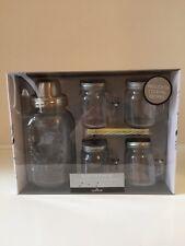 Barcraft Kit Cocktail di vetro Nuovo Non Aperto con Bevande Shaker-Barattoli Cannucce-RICETTE