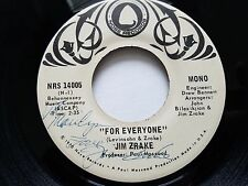 "JIM ZRAKE - For Everyone 1970 MONO PROMO 7"" Pop Rock ssw NOSE RECORDS RARE"