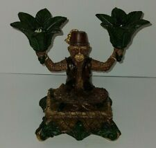 Fez Hat Monkey Moroccan Style Resin Candle Holder Youngs Inc.