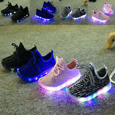 Fashion Child LED Light Sport Shoes Luminous Glowing Sneakers Toddler Trainers