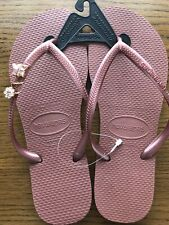Havaianas Slim Nude Bronze flip-flops UK size 5 with a Crystal Butterfly  £24.90