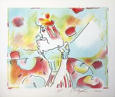 """PETER MAX """"COMPOSITION RED AND GREEN"""" 1980   SIGNED PRINT   OTHERS AVAIL GALLART"""