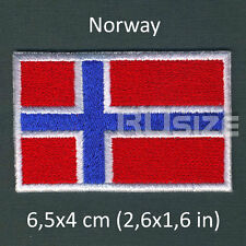 NORWAY Country Flag Embroidered PATCH 6,5х4cm For sewn/ironed on Badge Chevron