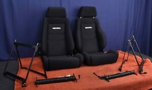 For Porsche 911T 911E 911S Vintage Recaro Seats Light Weight Brackets & Sliders