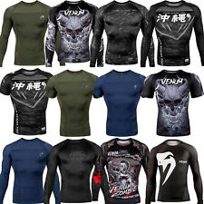 Venum Herren Rashguards Funktionsshirt Kompressionsshirt MMA Muay Thai Fitness