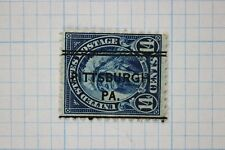 US used precancel Pittsburgh PA double line DLE