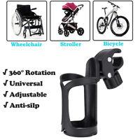 Becher Flaschen Getränke Halter Halterung Rollator Rollstuhl Kinderwagen PVC