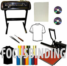 "24"" 1000g Vinyl Cutter Plotter,15x15"" Heat Press PU Transfer Vinyl Paper Bundle"