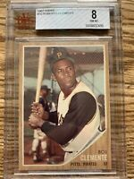 1962 Topps Roberto Clemente #10 Bvg 8 NM-MT Perfect Center Psa Regrade?