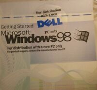 Vintage Windows 98 Microsoft Getting Started Guide Book Manual (w/ product key)