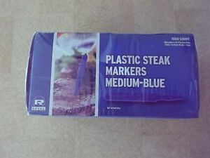 Royal Medium Plastic Steak Markers-Blue, Box of 1000 ~ NIB