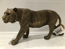More details for reflections bronze colour tiger king figure ornament by leonardo statue