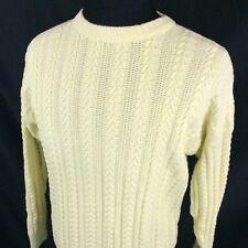 Vintage Brooks Brothers Knit Crewneck Sweater Large Yellow Cotton Hong Kong 90s