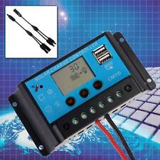 20A Poly Solar Panel Battery Regulator Charging Kit Controller + Y Type Cable TE